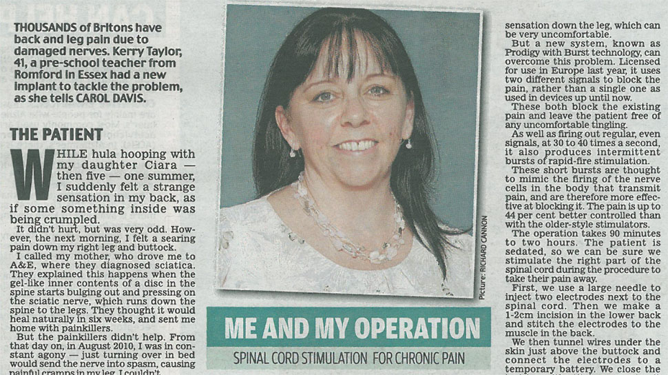 Me and My Operation: Kerry Taylor